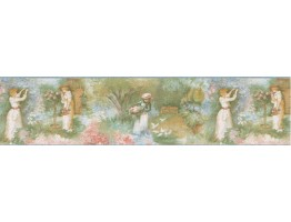 Prepasted Wallpaper Borders - Country Wall Paper Border B71575