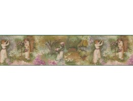 Prepasted Wallpaper Borders - Country Wall Paper Border B71576