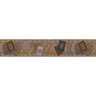 5 1/8 in x 15 ft Prepasted Wallpaper Borders - Contemporary Wall Paper Border B71612