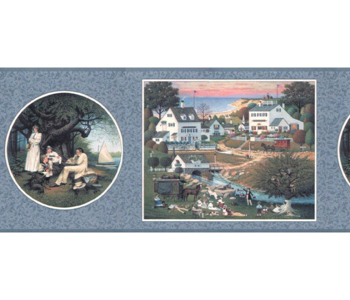Clearance: Country Wallpaper Border b7163hv