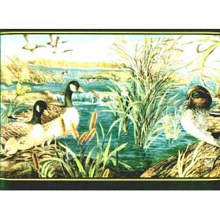 9 in x 15 ft Prepasted Wallpaper Borders - Birds Wall Paper Border b72071
