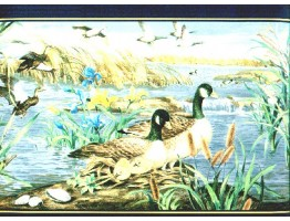9 in x 15 ft Prepasted Wallpaper Borders - Birds Wall Paper Border b72072