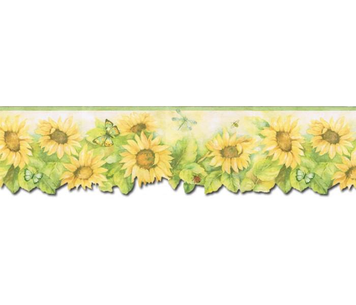 Garden Wallpaper Borders: Sunflowers Wallpaper Border FK72636DC