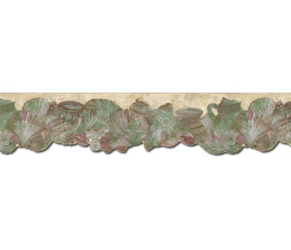 Prepasted Wallpaper Borders - Conch Wall Paper Border B72810