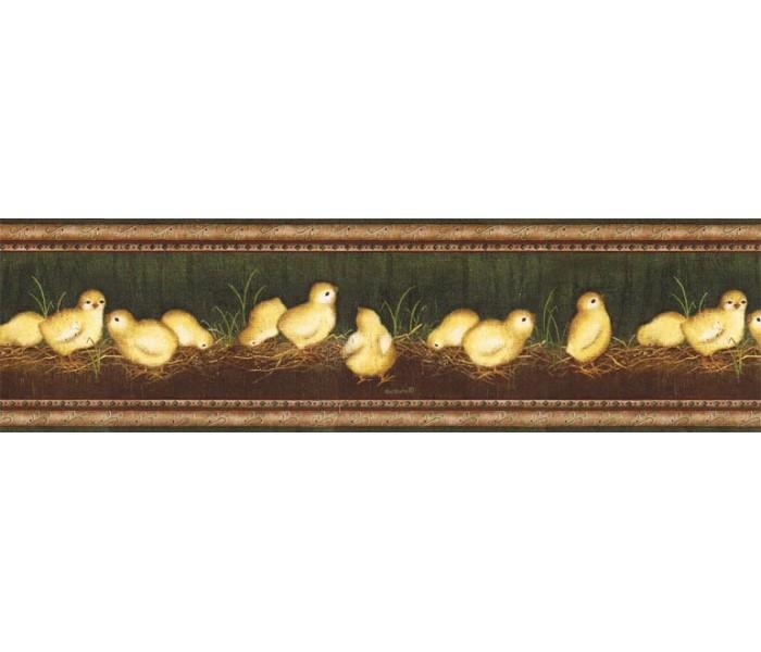 Clearance: Eight Chicks Wallpaper Border VIN7300B