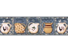 Prepasted Wallpaper Borders - Kitchen Wall Paper Border VIN7305B
