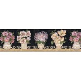 Clearance: Floral Wallpaper Border VIN7306B