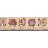 Clearance: Floral Wallpaper Border VIN7307B