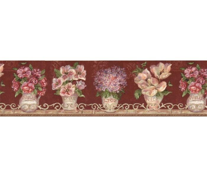 Clearance: Floral Wallpaper Border VIN7308B