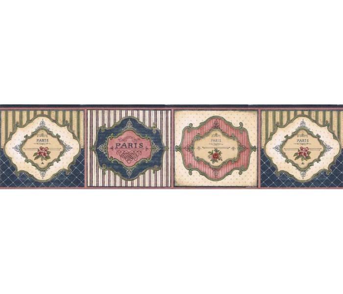 Clearance: Floral Wallpaper Border VIN7316B