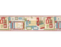 6 7/8 in x 15 ft Prepasted Wallpaper Borders - Novelty Wall Paper Border VIN7334B