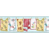 Clearance: Laundry Wallpaper Border VIN7335B