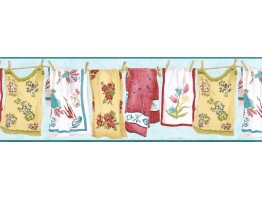 Laundry Wallpaper Border VIN7335B