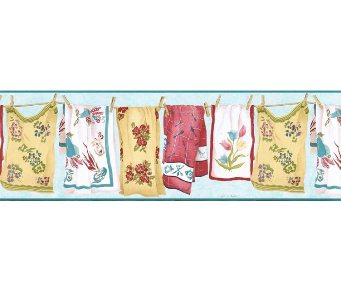 Clearance: Laundry Wallpaper Border VIN7335B