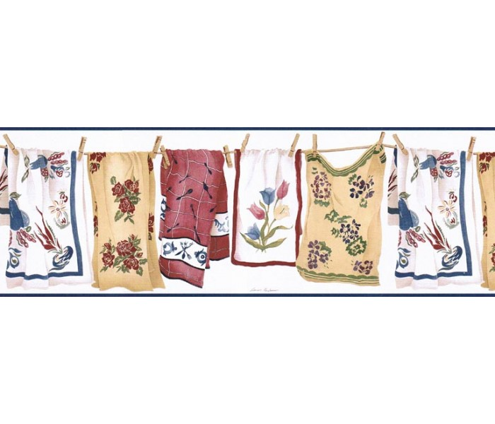 Clearance: Laundry Wallpaper Border VIN7337B