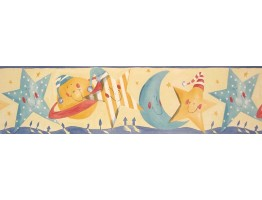 Prepasted Wallpaper Borders - Sun Moon and Stars Wall Paper Border B73515