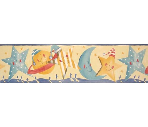 Clearance Sun Moon and Stars Wallpaper Border B73515 S.A.MAXWELL CO.