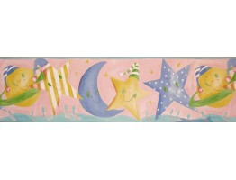 Prepasted Wallpaper Borders - Sun Moon and Stars Wall Paper Border B73517