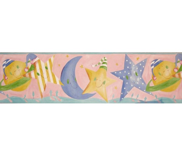 Clearance: Sun Moon and Stars Wallpaper Border B73517