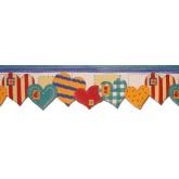 Clearance: Hearts Wallpaper Border B73534