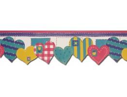 Prepasted Wallpaper Borders - Hearts Wall Paper Border B73535
