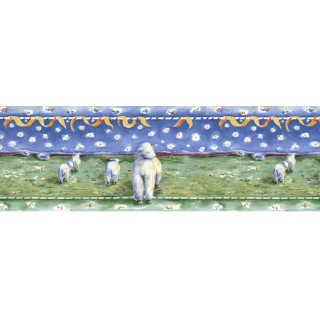 10 1/2 in x 15 ft Prepasted Wallpaper Borders - Animals Wall Paper Border B73557