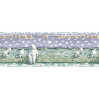 10 1/2 in x 15 ft Prepasted Wallpaper Borders - Animals Wall Paper Border B73558