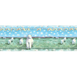 10 1/2 in x 15 ft Prepasted Wallpaper Borders - Animals Wall Paper Border B73559
