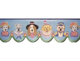 Prepasted Wallpaper Borders - Dogs Wall Paper Border B73565