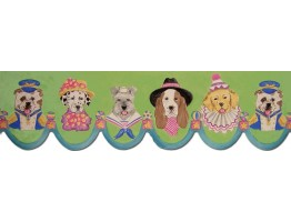 7 in x 15 ft Prepasted Wallpaper Borders - Dogs Wall Paper Border B73568LA