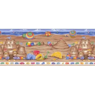 10 1/2 in x 15 ft Prepasted Wallpaper Borders - Beach Wall Paper Border LA73583B