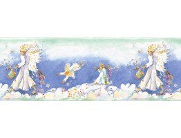 10 1/2 in x 15 ft Prepasted Wallpaper Borders - Angels Wall Paper Border B73590