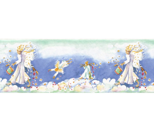 Clearance Angels Wallpaper Border B73590 S.A.MAXWELL CO.