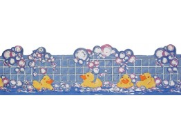 Prepasted Wallpaper Borders - Ducking Wall Paper Border LA73597B