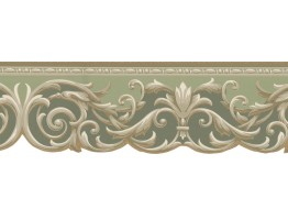 Prepasted Wallpaper Borders - Vintage Wall Paper Border KN73611DC