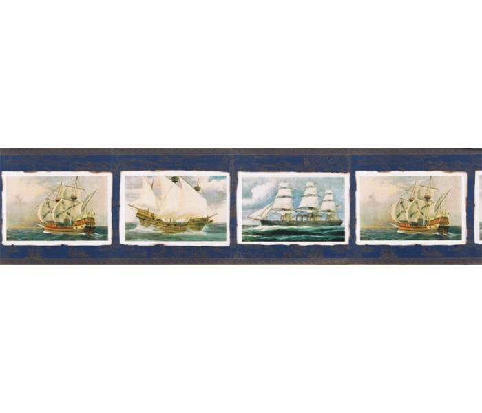 Clearance: Ships Wallpaper border FS73756