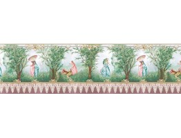 Prepasted Wallpaper Borders - Country Wall Paper Border b740809
