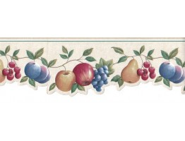 Prepasted Wallpaper Borders - Fruits Wall Paper Border GH74101B