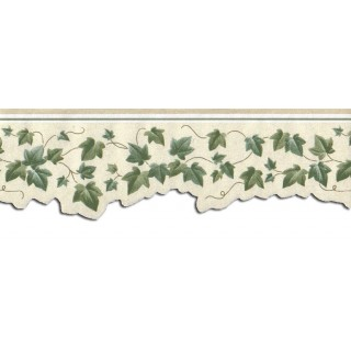 3 1/2 in x 15 ft Prepasted Wallpaper Borders - Cherry Leafs Wall Paper Border GH74106B