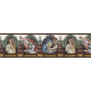 10 in x 15 ft Prepasted Wallpaper Borders - Contemporary Wall Paper Border b741101