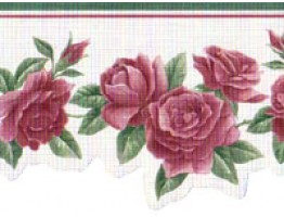 Roses Wallpaper Border B74111