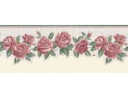 Prepasted Wallpaper Borders - Roses Wall Paper Border B74112