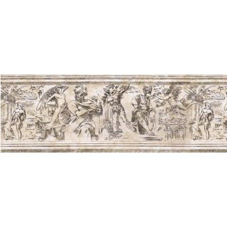10 1/4 in x 15 ft Prepasted Wallpaper Borders - Contemporary Wall Paper Border B741154