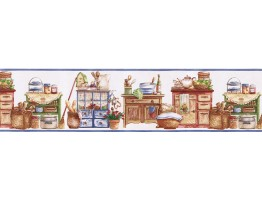 Prepasted Wallpaper Borders - Kitchen Wall Paper Border SK74392