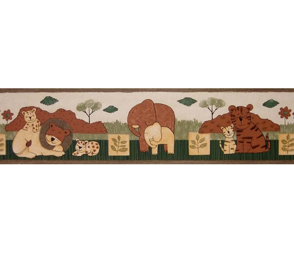 Jungle Animals Wallpaper Border B74508