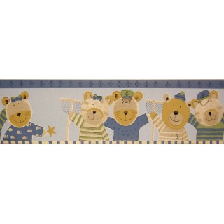 7 3/4 in x 15 ft Prepasted Wallpaper Borders - Animals Wall Paper Border B74512