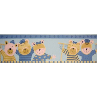 7 3/4 in x 15 ft Prepasted Wallpaper Borders - Animals Wall Paper Border B74514