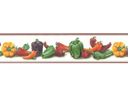 Prepasted Wallpaper Borders - Capsicum Wall Paper Border B7460488
