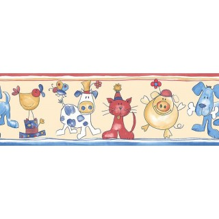 7 in x 15 ft Prepasted Wallpaper Borders - Animals Wall Paper Border B74865