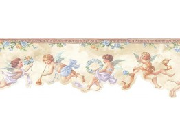 Prepasted Wallpaper Borders - Angels Wall Paper Border NK74868DC